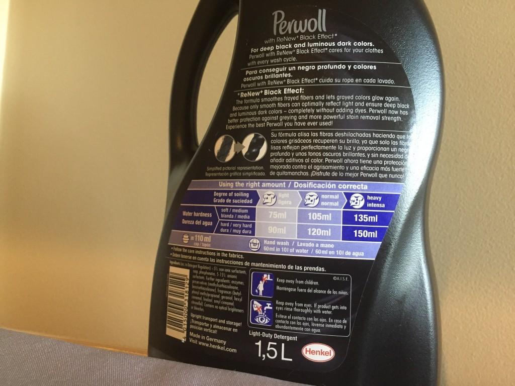 Perwoll Black label dosage