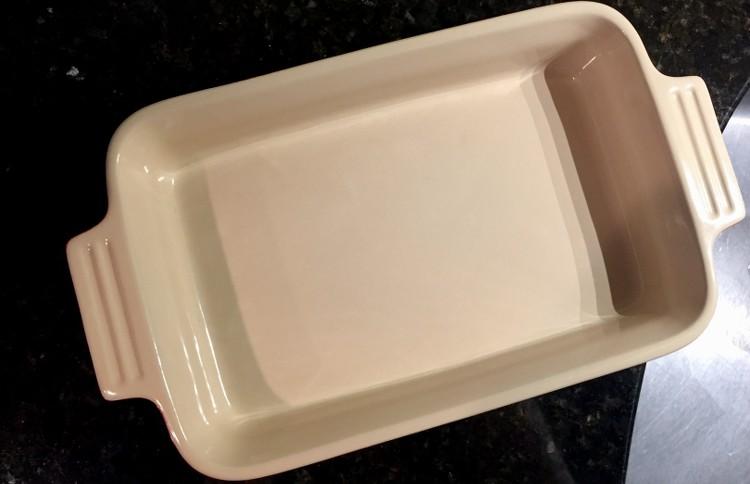 Clean baking dish