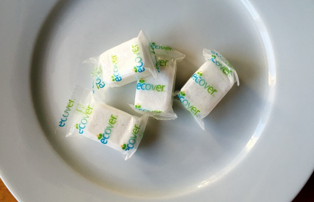 Ecover wrapped dishwasher tablets