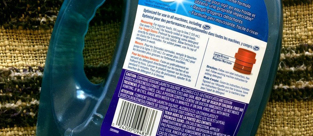 Persil Coldwater Canada label back