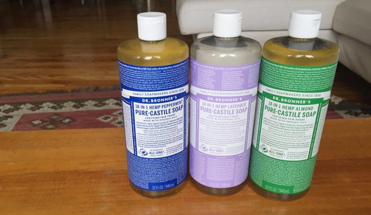 Dr. Bronner's laundry detergent