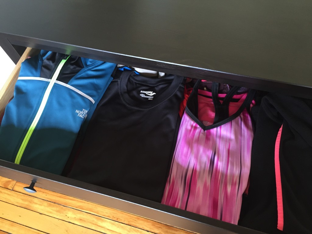 Exercise clothes washing