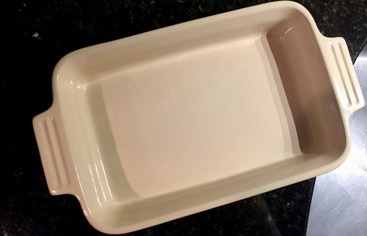 Clean baking dish