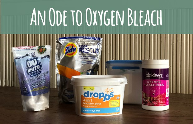 Oxygen bleach laundry